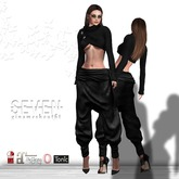 SEVEN - GINA mesh OUTFIT (black)