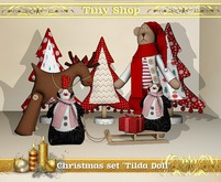 "Christmas set ""Tilda Doll"" (5 object), 100% mesh (full perm)."