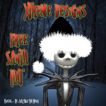 Fuzzy Black Santa Hat - Christmas