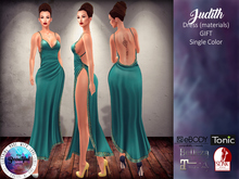 .:TBO:. Judith Dress Teal Ed. - Maitreya, Belleza, Slink, eBody, Tonic