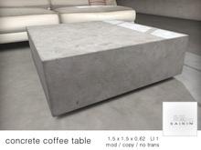 *+SAIKIN concrete coffee table