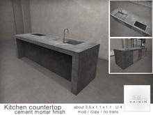 *+SAIKIN Kitchen countertop cement mortar finish
