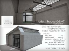 *+SAIKIN modern house QE-01 concrete