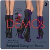 Blackburns Scripted Designer Boots DEMO Slink Maitreya Belleza