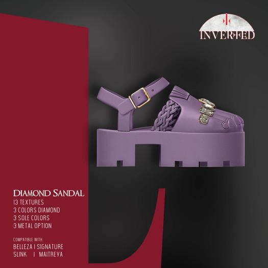 +INVERTED+ Diamond Sandal -Lilac-