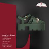 +INVERTED+ Diamond Sandal -Olive-