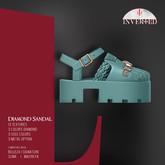 +INVERTED+ Diamond Sandal -Mint-