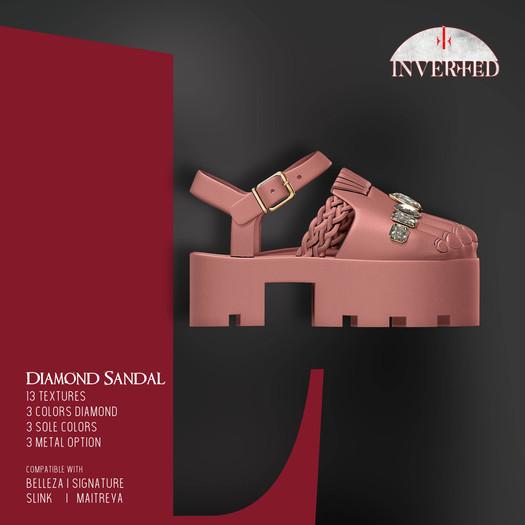 +INVERTED+ Diamond Sandal -Pink-