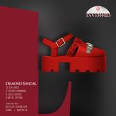 +INVERTED+ Diamond Sandal -Red-