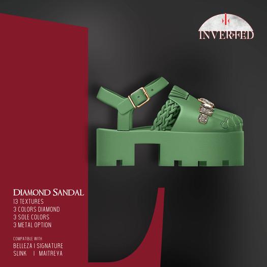 +INVERTED+ Diamond Sandal -Pistacho-