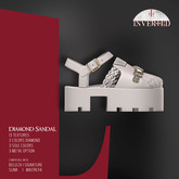 +INVERTED+ Diamond Sandal -White-