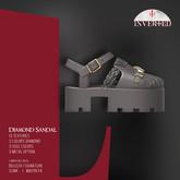 +INVERTED+ Diamond Sandal -Silver-