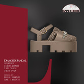 +INVERTED+ Diamond Sandal -Sand-