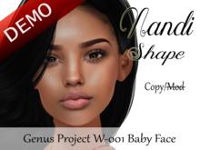 """Nandi Shape """"Genus Project Head W001 Baby Face"""" Demo"""