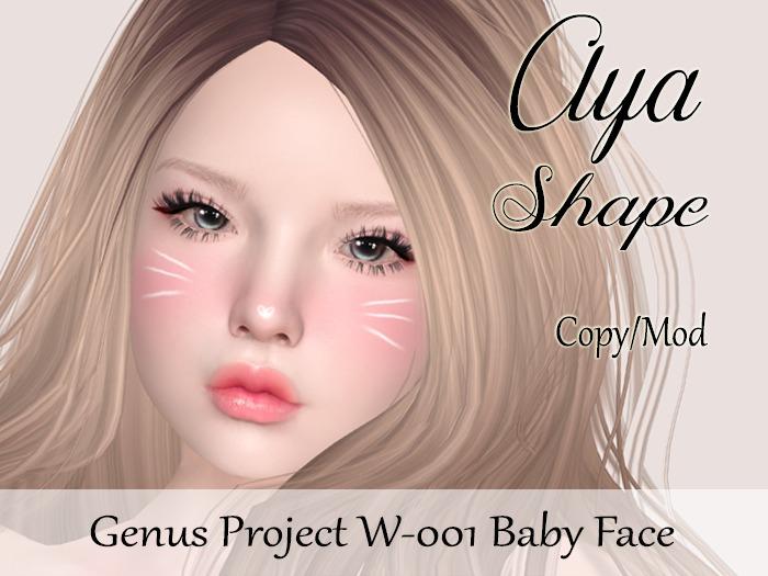 "Aya Shape ""Genus Project Head W001 Baby Face"""