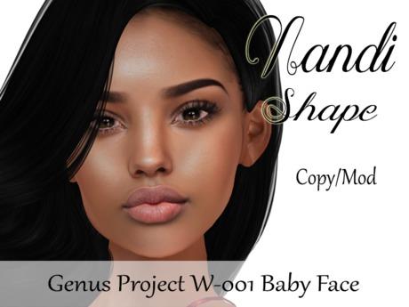 """Nandi Shape """"Genus Project Head W001 Baby Face"""""""