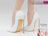 MI962815 White Gold High Heels