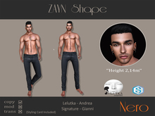 Nero - ZAYN shape - Lelutka/Signature