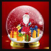 Santa in the snow GIF