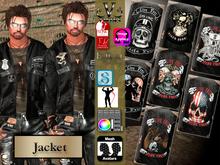 V-Twins Biker Clothes - Payback Biker Jacket **MESH (Mesh Body Compatible)