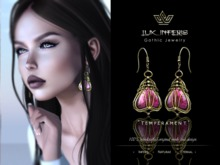 Lux Inferis: Semiprecious Earrings - TEMPERAMENT
