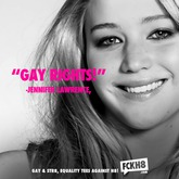 """Jennifer Lawrence """"Gay Rights"""" Poster"""