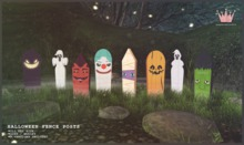 paper.crowns - halloween fence posts