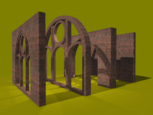 "1 prim full perm ""Cathedral Arc & Columns"" sculpt maps, any texture"