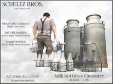 Milk Bottles & Cannister - New
