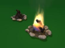 """1-2 prim full perm """"Camp Fire"""" sculpt maps + bonus fire script"""