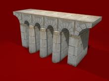 "1-2 LI full perm ""Castle Stone Bridge Walkable"", sculpt map + mesh, any texture"
