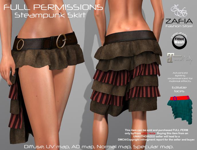 Full Perm-ZAFIA Steampunk Skirt-Maitreya