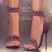 (AMD) Ruffles Heels - Maroon (wear to unpack)