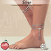 (AMD) Barcelona Anklets & ToeRing - Silver (wear to unpack)