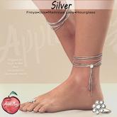 (AMD) Barcelona Anklets & ToeRing - Silver (wear to unpack)