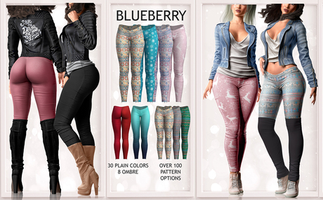 Blueberry - Julia Leggings - Fat Pack
