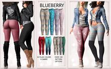 Blueberry - Julia Leggings - Fat Pack