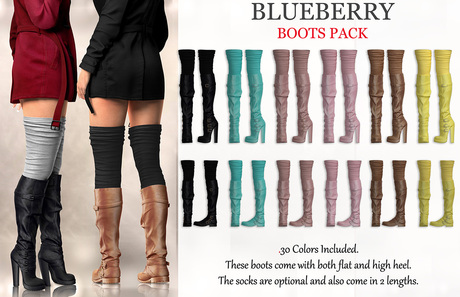 Blueberry - Cece - Winter Boots - Fat Pack