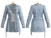 Blueberry - Cece - Trench Coats - Cloud