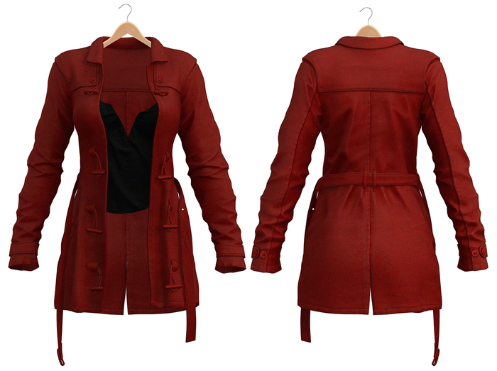 Blueberry - Cece - Trench Coats - Red