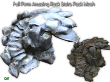 Full Perm Amazing Natural Rock Stairs Pack Mesh
