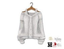 {amiable}Mesh Oversized Knit Cardigan10
