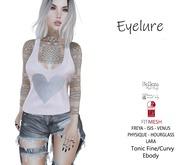 Eyelure Soft Cotton Tank  PINK SILVER HEART