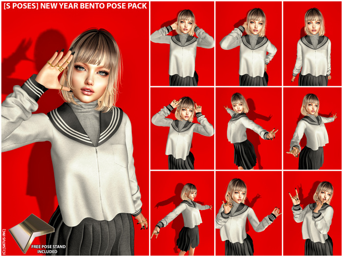 [S Poses] New Year Bento Pose Pack