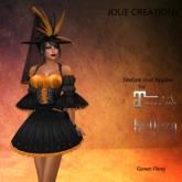 ** JC ** Halloween Orange Witch - (Maitreya/Belleza)