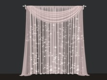 Scarf Valance Curtains - Sparks - Retractable