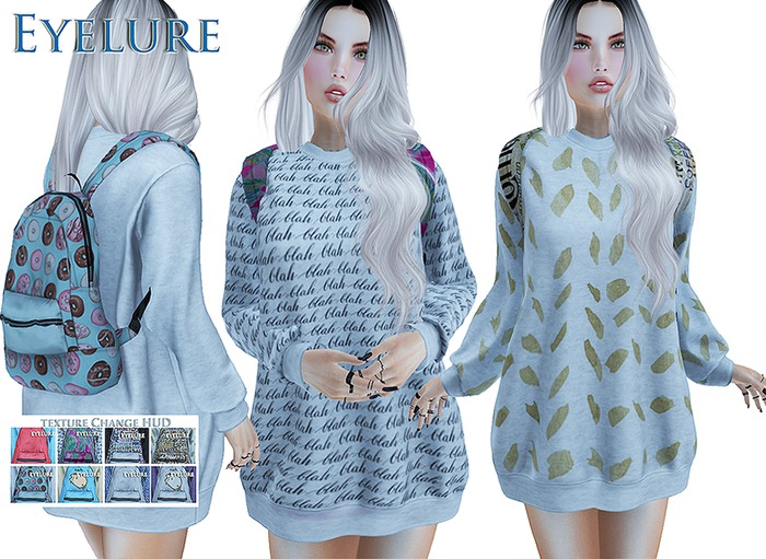 FATPACK   Eyelure Top with Backpack - Texture Change HUD - *8 Different Outfits!*