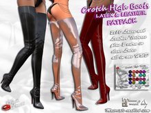 -VD- Crotch High Boots Latex & Leather (wear to unpack)