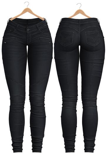 Blueberry - Aria - Stylized Jeans - Black
