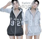 Eyelure BABE Zip Hoodie   2 Pack - Grey/White & White
